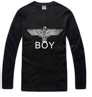 Unisex Cotton Round Free shipping boy london t-shirts Boy Eagle T-shirt long sleeve tshirts 100% cotton 6 color t-shirts