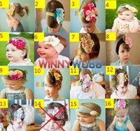 Wholesale BABY Girls Hair Bands Babys Girl s Flower Cotton Headbands Hairband Hair Ornaments