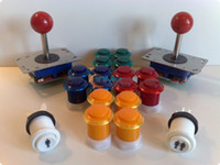 Wholesale Arcade parts Bundle kits control panel package with double color button long shaft joystick microsw
