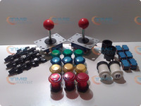 Wholesale Arcade parts Bundle kits control panel package with illuminate button LED player start buttons joys