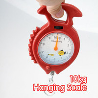 Spring Kitchen Scales  120 pcs lot 10kg Fish Shape Weighing Hanging Scale Handheld Numeral Pointer Spring Balance #1583