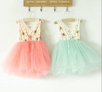 TuTu beautiful yarns - children s clothes girl s Floral Cotton layer yarn super beautiful princess vest dress