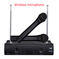 Wholesale Wireless Microphone Cordless DJ Karaoke Public Address PA Mic System Set