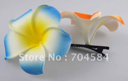 Wholesale 3 quot foam flower Plumeria rubra PE flower with hair clips
