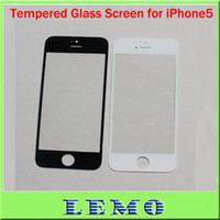 For Apple iPhone Touch Screen  Replacement Front Screen Outer Glass Lens Repair Part for iPhone 5 5th White Black Color 100pcs Lot