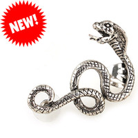 Wholesale 2013 New Hot Retro Punk Goth Character Snake Ear Clip Ear Cuff Earrings