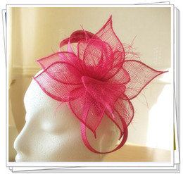 Wholesale color sinamay fascinator hats nice bridal hair accessories pieces MSF222