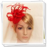 Wholesale color sinamay fascinator hats nice bridal hair accessories pieces MSF227