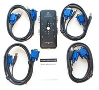 Wholesale 6pcs Port USB KVM Switch with Sets PC1 PC2 PC3 PC4 of Cables for PC AC93