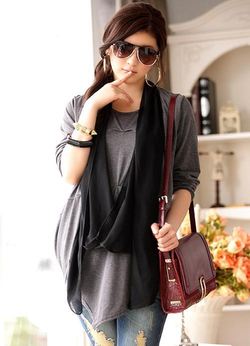 Wholesale - Fashion Trendy Women Casual Wear Knit Plus Size Clothing