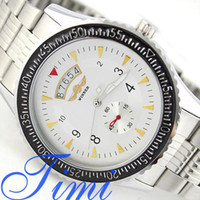 Wholesale Men Automatic Watch White Luminous Date Stainless Steel