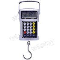 Wholesale 5 in KG LCD Hanging Digital Hook Scale Pricing Calculator Tape Measure Clock Thermometer