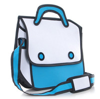 Wholesale 2013 New Jump From Paper Play Hooky D Cartoon Bag FASHION Women Shoulder bags Messenger Handbag