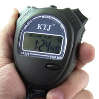Sport Unisex Chronograph 100pcs lot Stopwatch Digital LCD Display Chronograph Timer Calendar 1 100 SEC KTJ TA228 Free Shipping