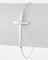 sideways cross charm - Charms cm Plated Silver Metal Handmade Sideways Chain Cross Bracelet Finding
