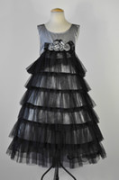 Wholesale Hot Sale NWOT BONNIE JEAN GORGEOUS PEWTER TULLE PAGEANT PORTRAIT EASTER DRESS