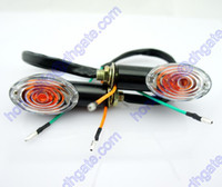 Universal amber indicators - 2x Motorcycle Oval Turn Signal Light Indicator Blinker Bulb Mini Amber Black