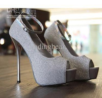 Pumps career wear - 2012 Party Wear White Ankle Strappy Peep Toe High Platform Stiletto Dress Shoes Colors