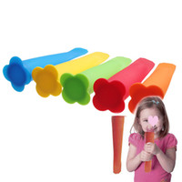 Silicone Rubber ECO Friendly  100 pcs lot Silicone Push Up Ice Cream Mould Ice-lolly Mold Cool Frozen Stick Maker #1598