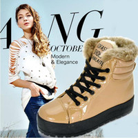 Wholesale ladies fashion winter wedges wool boots woman color black brown white ankle boots Platform shoes