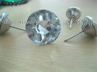 Wholesale 200PCS MM DIAMOND FLOWER GLASS CRYSTAL NAIL BUTTON SOFA BUTTONS METAL BUTTONS