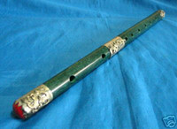 Wholesale Wonderful Chinese Tibet silver Jade Carved Dragon Flute