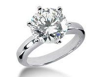 Wholesale Fashion jewelry Wedding Engagement White Crystal Gold Filled Ring SZ