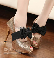 Wedding Shoes Women Red Prom Wedding Shoes Bright Glorious Silver Sparkly Gold Glitter Strappy Stiletto High Heels Shoes