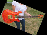 best quilt - best guitar Private Stock Custom Orange Quilt Brazilian Fret Matching Headstock OEM Availabl