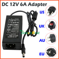 Wholesale 12V A AC DC Power Supply Charger Transformer Adapter for LED RGB Strip light US UK EU AU