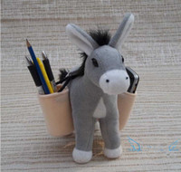 Wholesale Cute Plush Donkey Dolls Toy Pen Pencil Holder Office Decoration High Quanlity