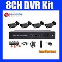 Wholesale 8ch DVR Kit with TVL Waterproof IR Cameras ch DIY CCTV System D1 DVR Kit ch Security Cam