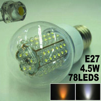Wholesale F5 LED Corn Light Lamp Bulb Globe LEDS W E27 Super Bright High Quality Only
