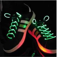 Wholesale 20paris party style colorful LED flashing shoelace light up shoe laces MGXA012