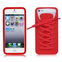 Wholesale PlayHello iShoes Sporty Silicone Case with Shoelaces for iphone G th Black White Green