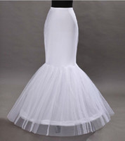 Wholesale White Bridal Petticoats For Mermaid Dress Train Underskirt Tulle