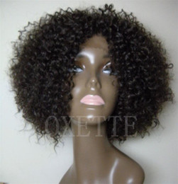 Wholesale Virgin hair Afro kinky curly Full lace wig or Front lace wigs of colors no shedding