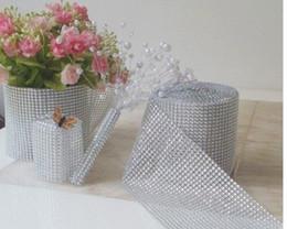 Wholesale Hot sale wedding party properties Diamond Mesh Roll Rhinestone Ribbon Crystal Wrap Wedding Decoration Background modeling