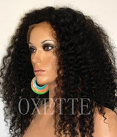 Brazilian hair kinky curl lace wig - 16 quot B Virgin Brazilian Hair Afro Kinky Curl Glueless Lace Front Wigs for Black Women UPS DHL