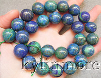 azurite beads - 8SE07692a mm Azurite Malachite Round Beads