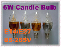 Wholesale on sales DHL FREE E14 E27 W High Power Led Candle bulb led lamps led lighting chandelier bulbs