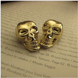 Wholesale High quality DIY gold skull buttons buttons monopoly metal buckle real super beauty bright exclusive