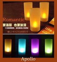 Wholesale Led Candle Light Acoustic Control Night Lights Yellow Romantic Valentine s Wedding Birthday Lamp