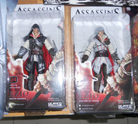 Wholesale Genuine NECA Assassin s Creed II EZIO Black amp White quot PVC Action Figure Toys Dolls Chritmas Gift
