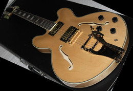 Wholesale New Custom NEW USA KING LUCILLEVIBRATO ELECTRIC GUITAR in stock jazz electric guitar