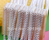 Wholesale inch mm sterling silver flat Chain necklace