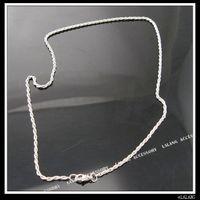 15x Plaqué rhodium Twist - Link Necklace Chaînes 130112