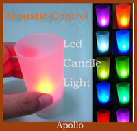 Wholesale Led Night Light Candle Lamp Acoustic Control Sound Sensor Single Color Lights Birthday Valentine