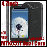 Wholesale B92M P Smartphones inch HD Screen MTK6577 Dual Core GB GB Android4 GPS WIFI MP camera