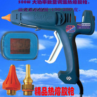 Cheap EU Plug Power 400 Watt hot melt glue gun, industrial glue gun,plug zonne 1pcs, glue stick 5pcs,1pcs set, free shippin